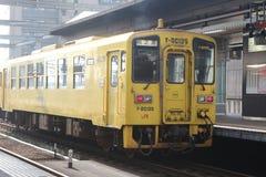Spoorweg van Japan& x27; s platteland Stock Afbeeldingen