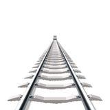 Spoorweg. Vector. royalty-vrije illustratie