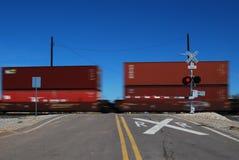 Spoorweg verschepende containers Royalty-vrije Stock Fotografie