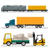 Spoorweg Vervoer en Vrachtvervoer vector illustratie