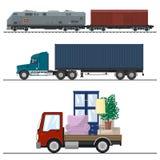 Spoorweg Vervoer en Vrachtvervoer Royalty-vrije Stock Foto's