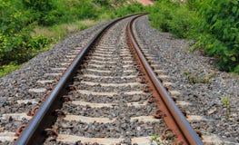 Spoorweg voor vervoer Stock Foto's