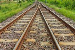 Spoorweg voor vervoer, de manier van het vervoerspoor Royalty-vrije Stock Afbeeldingen