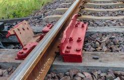 Spoorweg voor vervoer, de manier van het vervoerspoor Royalty-vrije Stock Foto