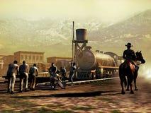 Spoorwegbouw Royalty-vrije Stock Afbeeldingen