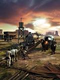Spoorwegbouw royalty-vrije illustratie