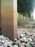 Spoorwegbrug over satillarivier royalty-vrije stock fotografie