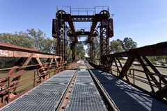 Spoorwegbrug in Tocumwal royalty-vrije stock afbeeldingen