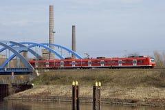 Spoorwegbrug Wittenberge royalty-vrije stock foto's