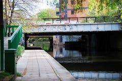 Spoorwegbruggen over het Kanaal van de Regent, Londen Stock Fotografie