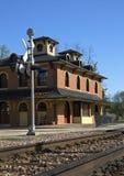 Spoorwegdepot Stock Foto