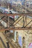 Spoorwegen en treinen Stock Afbeelding