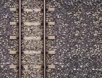 Spoorwegenspoor in treinenpost stock afbeelding