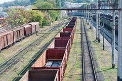 Spoorweglandschap Stock Foto