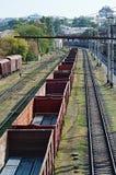 Spoorweglandschap Stock Afbeeldingen