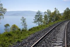 Spoorwegmeer Baikal Stock Fotografie