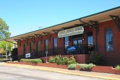 Spoorwegmuseum en Treinopslag in Casey Jones Village, Jackson, Tennessee royalty-vrije stock fotografie