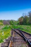 Spoorwegpijlen royalty-vrije stock foto