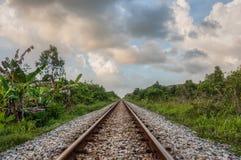 Spoorwegspoor Stock Afbeelding