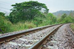 Spoorwegspoor stock foto