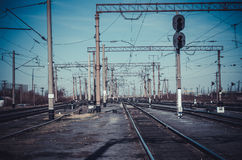 Spoorwegspoor Royalty-vrije Stock Afbeelding