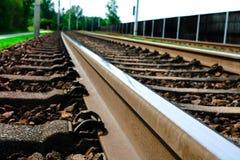 Spoorwegspoor door weiden! stock foto