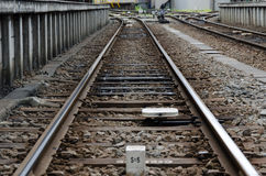 Spoorwegsporen Stock Fotografie