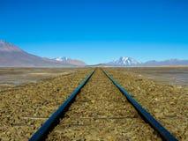 Spoorwegsporen aan nergens Stock Fotografie