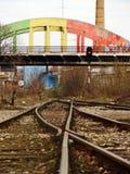 Spoorwegsporen die nergens leiden stock afbeeldingen