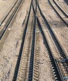 Spoorwegsporen en schakelaars Royalty-vrije Stock Fotografie