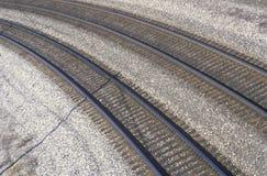 Spoorwegsporen in Indianapolis, Indiana royalty-vrije stock fotografie