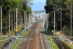 Spoorwegsporen in Japan Stock Fotografie