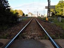 Spoorwegsporen Kalmar, Zweden Stock Fotografie
