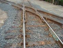 spoorwegsporen kruising Royalty-vrije Stock Afbeelding