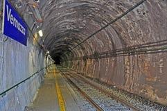 Spoorwegtunnel Royalty-vrije Stock Afbeelding