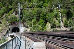 Spoorwegtunnel Stock Foto