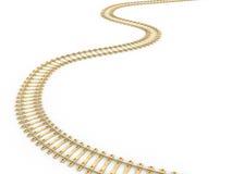 Spoorweguitbreiding in dageraad 9 stock illustratie