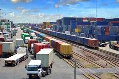 Spoorwegvervoer in Thailand Stock Fotografie
