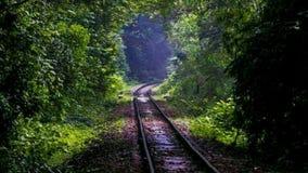 Spoorwegweg royalty-vrije stock foto's
