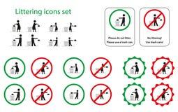 Sporcizia delle icone Illustrazione Vettoriale