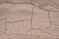 Sporcizia fendentesi nella struttura del lavaggio del deserto fotografia stock libera da diritti