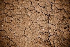 Sporcizia o fango incrinata secca Immagini Stock Libere da Diritti
