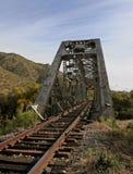 Sporen door de brug royalty-vrije stock afbeeldingen