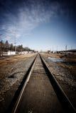 Sporen door een prairiestad Stock Fotografie