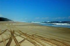 Sporen in het Zand royalty-vrije stock foto