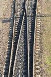 Sporen, spoorweg Royalty-vrije Stock Foto