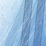 Sporen van autobanden op ijs De motorfiets van de douane Autodrukken in het ijs Textuur van ijsoppervlakte Spoor met afzonderlijk vector illustratie