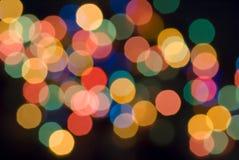 Sporen van de lichten van Kerstmis Royalty-vrije Stock Fotografie