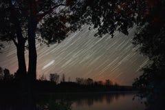 Sporen van de motie van de sterren Stock Afbeeldingen
