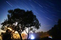 Sporen van de motie van de sterren Stock Foto's